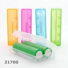 Caja protectora para baterías 2X21700 - Blanca transparente