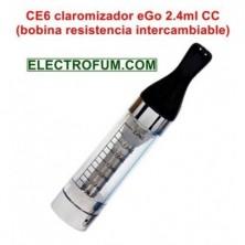 CE6 (T2) claromizador eGo 2.4ml CC (Bobina resistencia intercambiable)